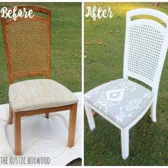 How To Replace Cane Back Chair With Fabric Rocking And Cradle In One Thrifted Distressed Makeover The Rustic