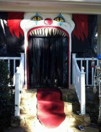 Creepy Clown Halloween Door Decorations