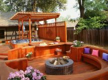 Small Deck with Hot Tub Design Ideas