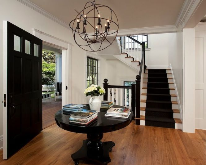 Vallone Design Restoration Hardware Foucault S Iron Orb Chandelier Rustic Hanging Over Glossy Chandelierlarge Foyer