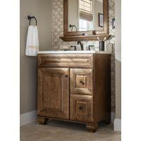 A rich mocha vanity brings natural warmth to your bathroom ...