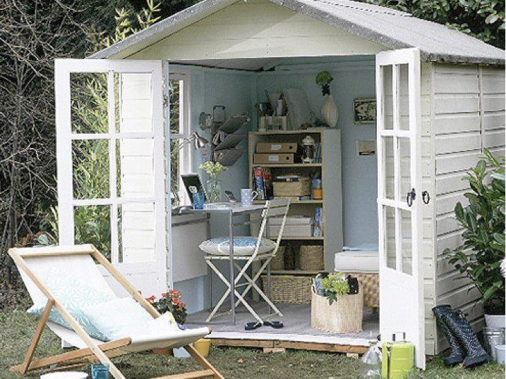Garden Office Shabby Chic Office Shed Ideas! Pinterest