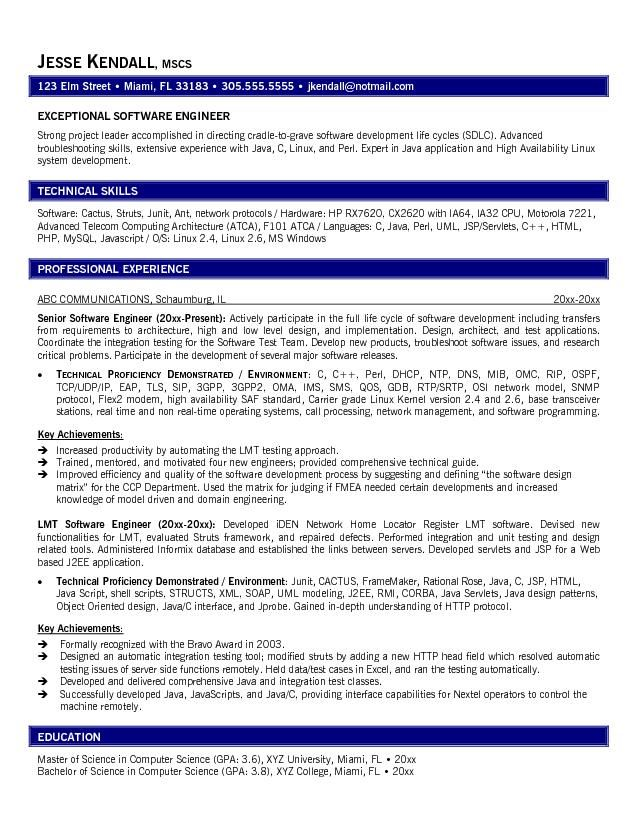 13 software engineer resume samples riez sample resumes riez - Objective For Engineering Resume 2