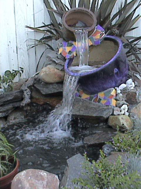 pond containers thread waterfall