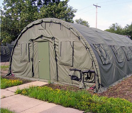 NEW SELF STANDING 20 X 325 STRUCTURE TENT MILITARY MADE