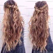 boho mix of textured braids beachy