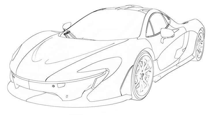 Resultado de imagem para desenho de uma McLaren P1 em