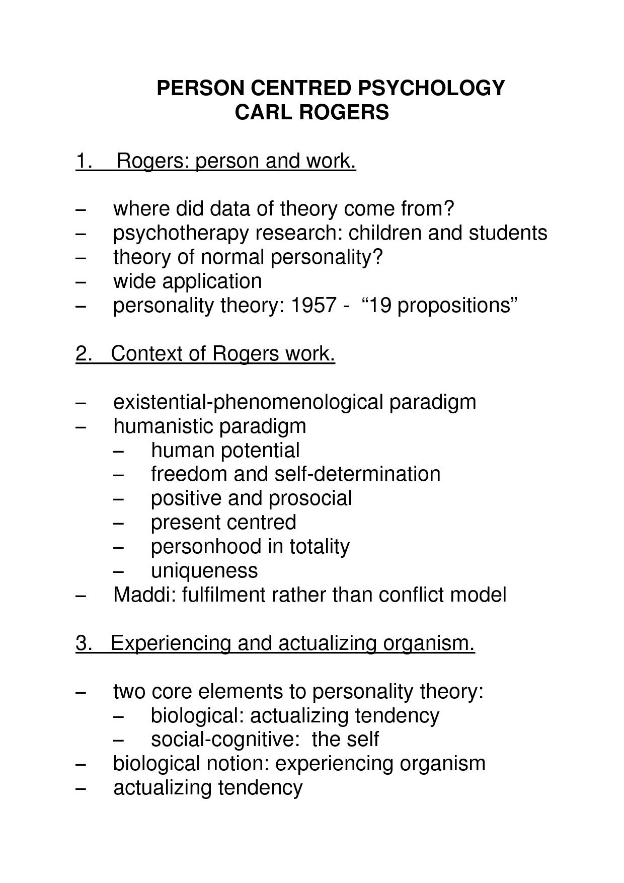 Personality Trait Theory