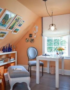 How to hang art on slanted walls yes  frame homes and attics can be decorated also rh pinterest