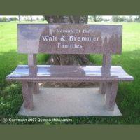 Classic Granite Bench headstone | Headstones / memorial ...