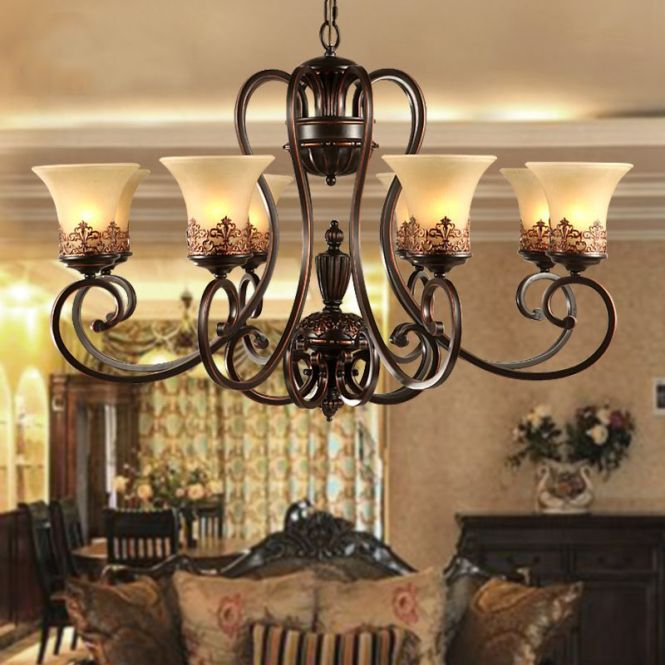 Find More Chandeliers Information About Antique Black Wrought Iron Chandelier Rustic Arts Crafts Bronze