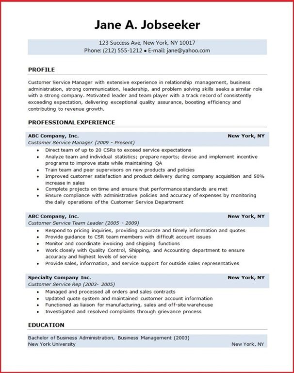 Customer Service Manager Resume Creative Resume Design