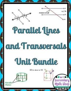 Activities  also parallel lines and transversals unit bundle rh za pinterest