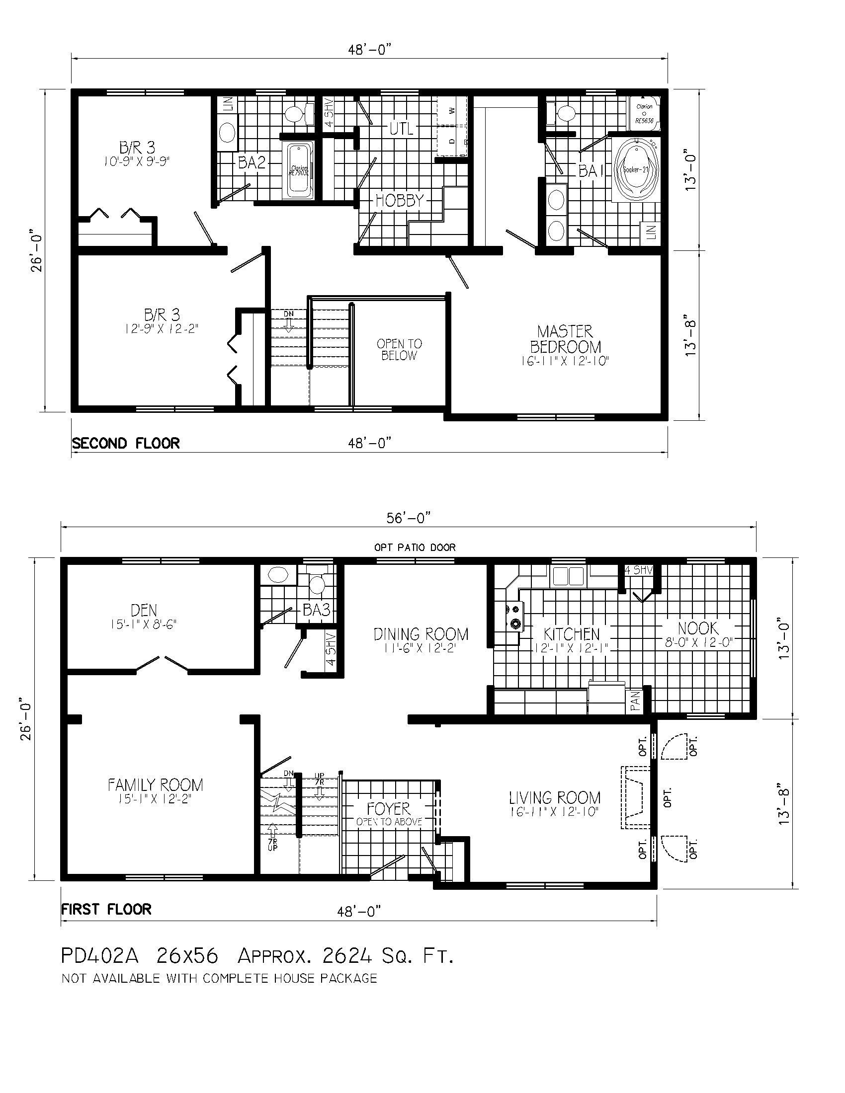 4 Storey Residential Building Floor Plan