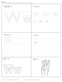 Beginning Letter Sound Worksheets -The Letter W ...