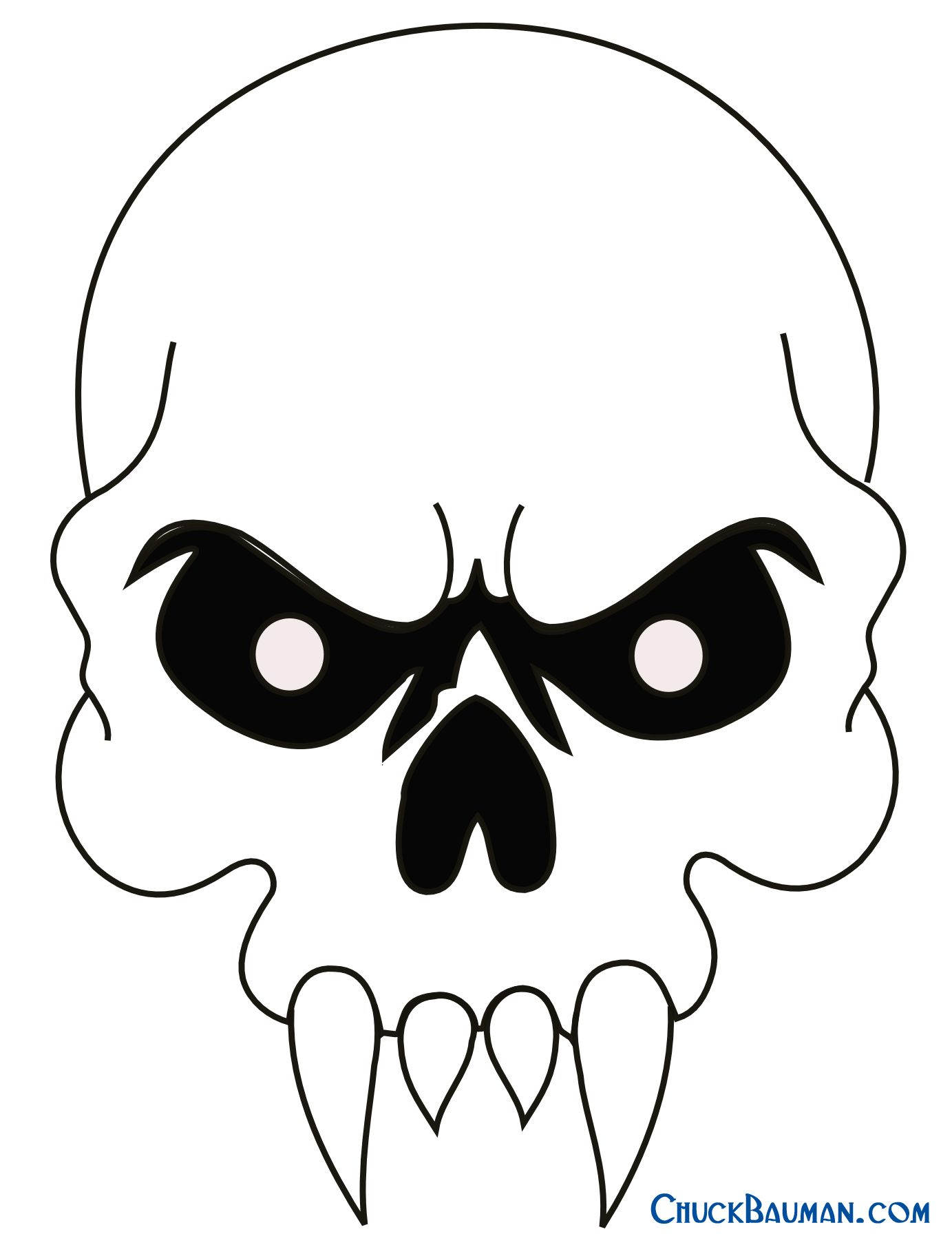 Click here for large Skull with Fangs airbrushing and