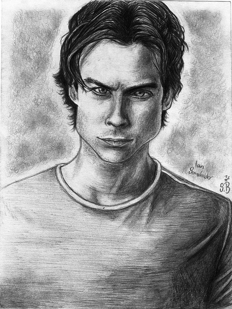 Pencil Drawings Vampire Diaries Damon