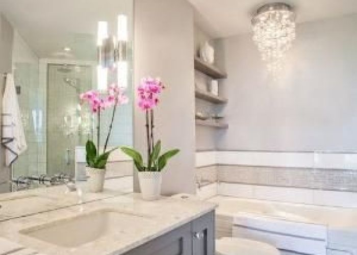 Master bath home is where the heart pinterest elegant and grey floor tiles also