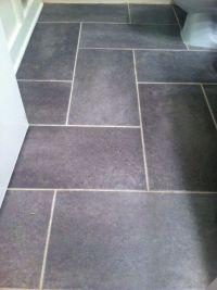 Groutable vinyl tile slate floor. Update a standard sized ...