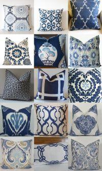 Blue Pillows on Pinterest