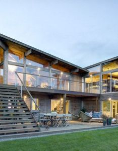 Oceanview kit house upgraded to elegant family home far pond residence by bates masi architects   in southampton new york revived with also this  has been renovated rh pinterest