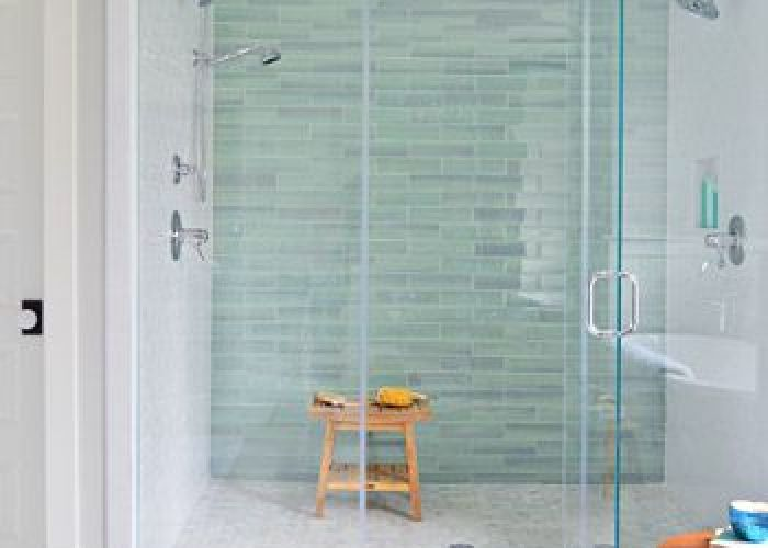 It   bath time glass tile also shower pan aqua and marble floor