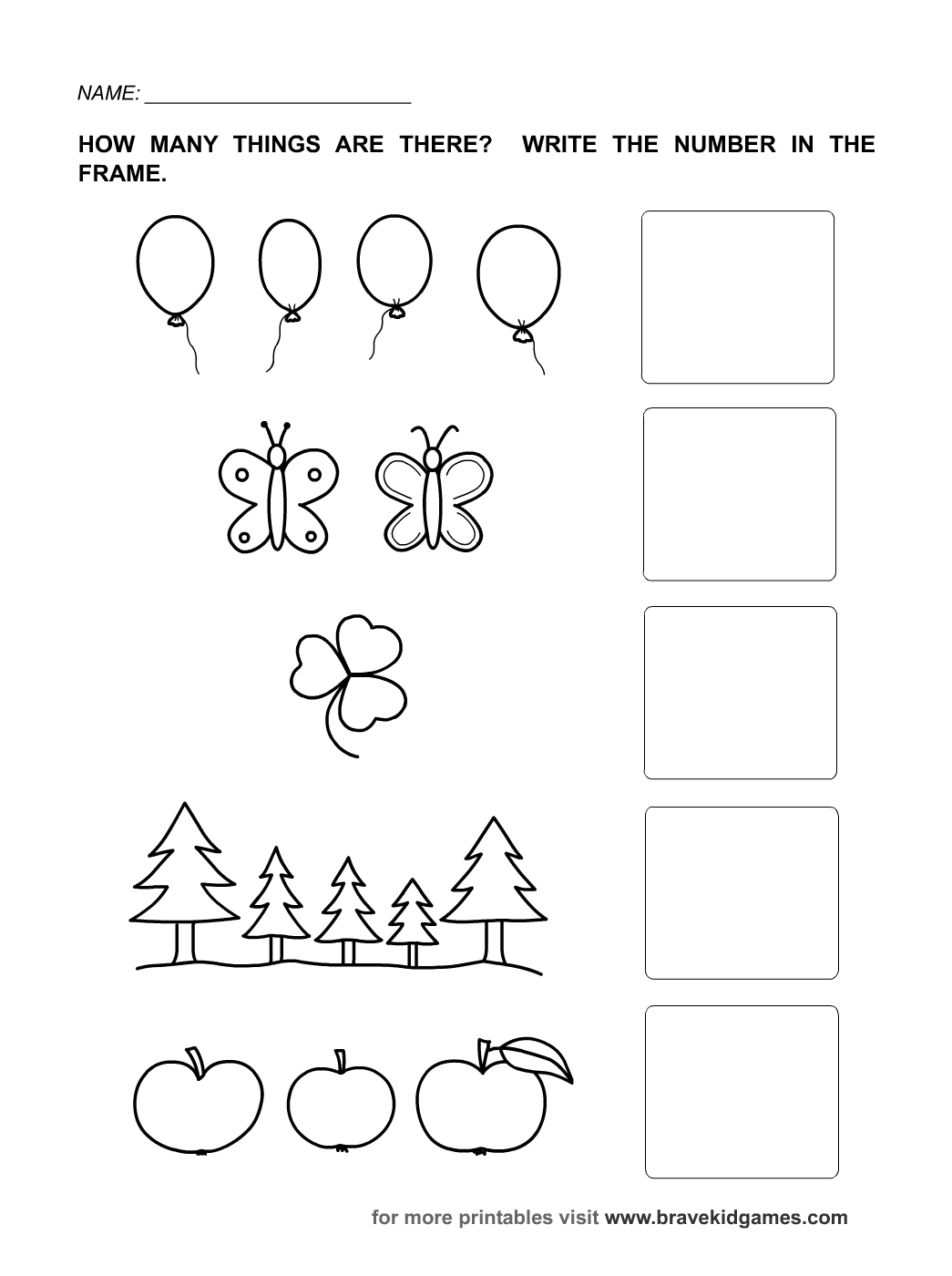 Worksheets For Numbers