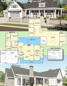 Introducing architectural designs modern farmhouse plan sc this offers  flexible floor giving also with optional finished lower level rh pinterest