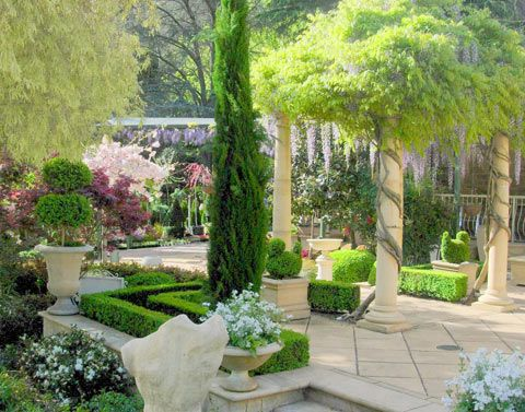 Tuscan Garden Ideas Outdoors Pinterest Gardens Flag Stone