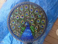 peacock mosaic table...Oh My Gosh!! How cool would this be