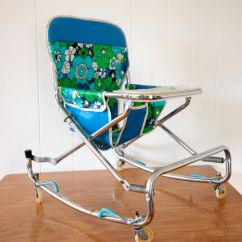 Walker Bouncing Chair Vintage Dining Baby Circa 1960 39s Yes That Fabric