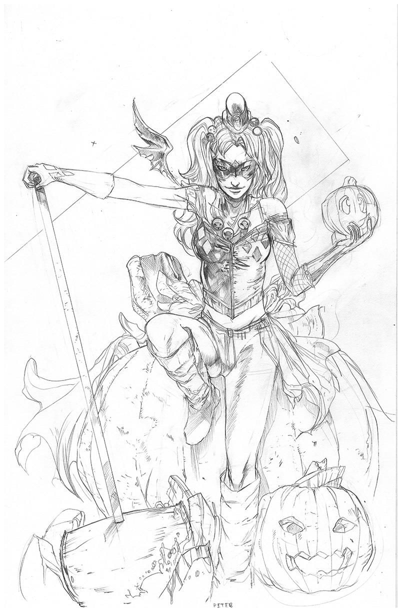 harley quinn •peter nguyen  coloring pages  pinterest