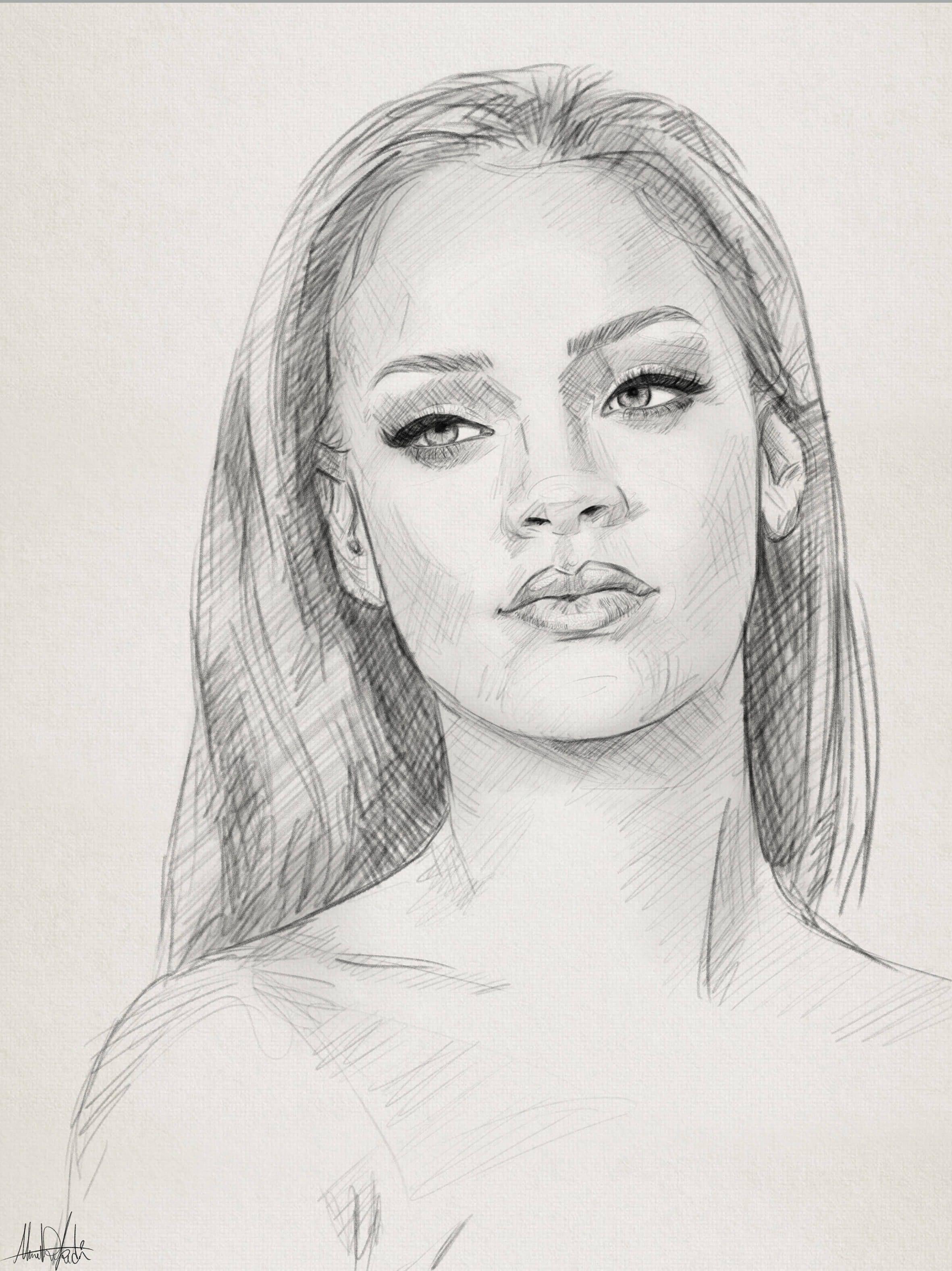 Easy Drawing Portrait Ideas Dominic Beyeler Portrait