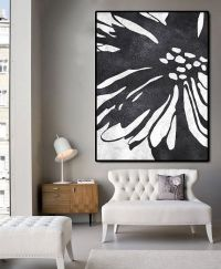 Huge Abstract Painting On Canvas, Vertical Canvas Painting ...