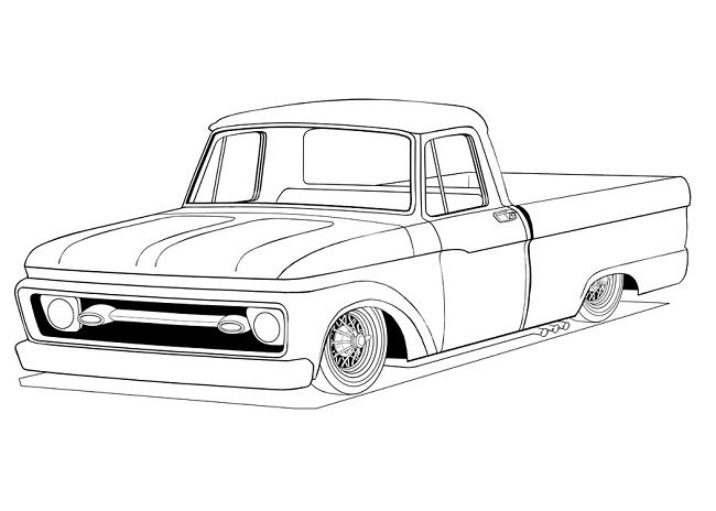 Old Truck Coloring Pages