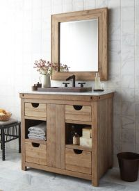 Simple Country Cottage Style Bathroom Vanity featuring ...