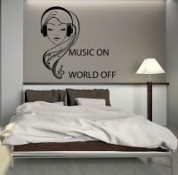 Details about Wall Decal Music Headphones Teen Girl Room ...
