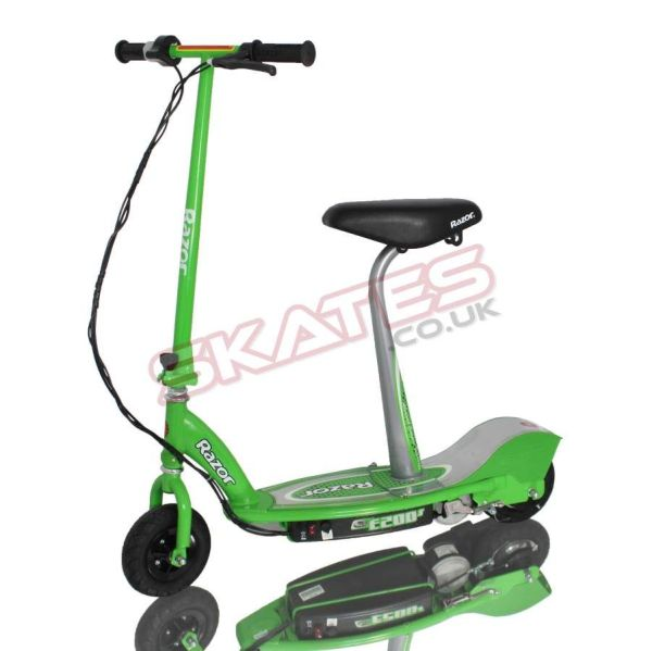 Razor Scooters E200 Green Electric Scooter With Detachable Seat Cool