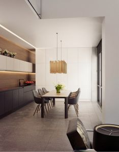 The interior of this country house in pestovo was designed by russian architect alexandra fedorova images also dining room rh pinterest