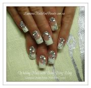wedding nails with bling