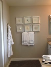 Bathroom beach decor ( framing ideas) | Model home ...