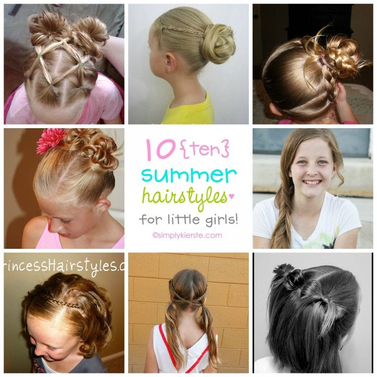 10 Fun Summer Hairstyles For Little Girls Stays Repinned And Summer