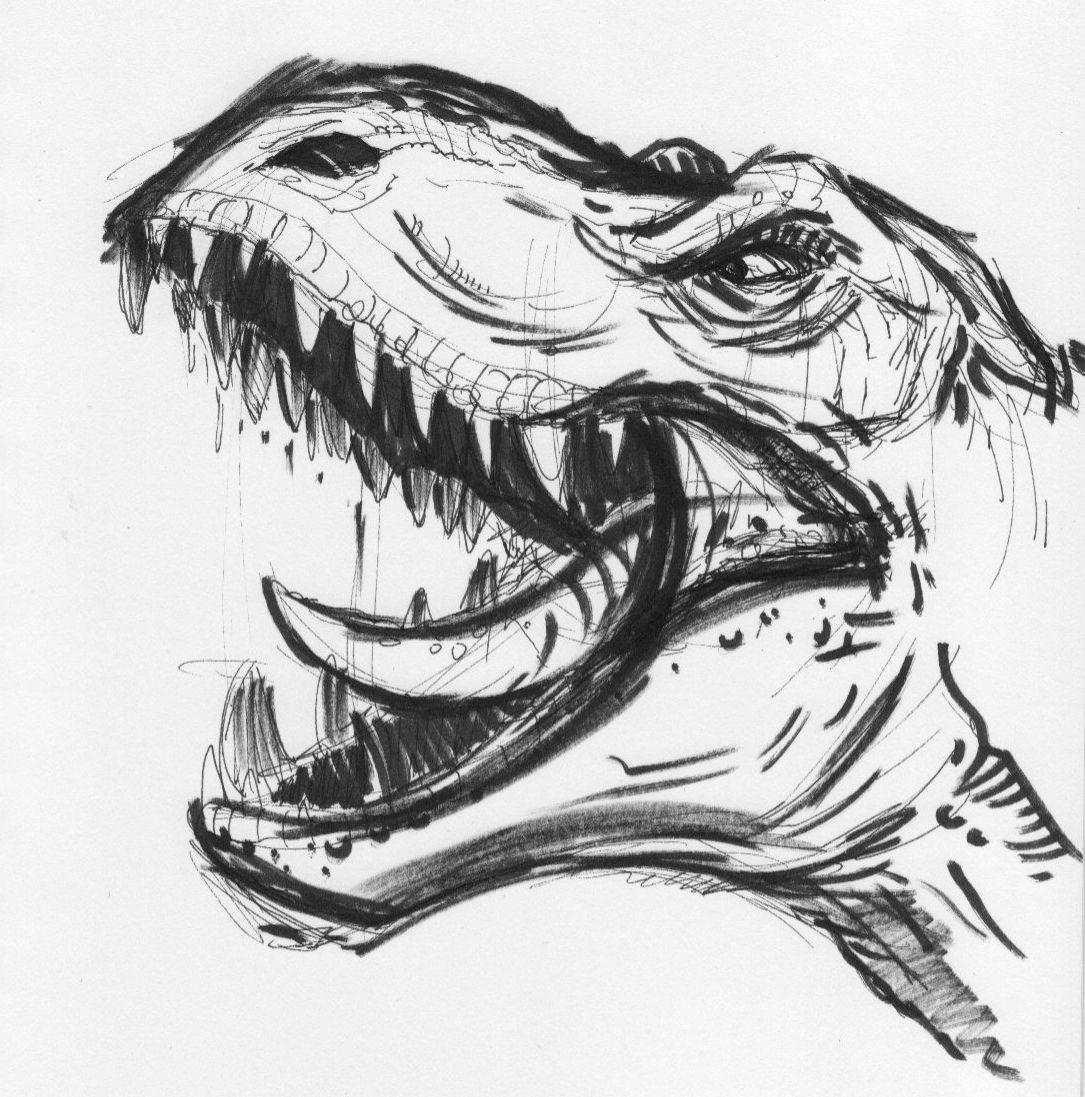 Dinosaur Sketch Pretty Sick