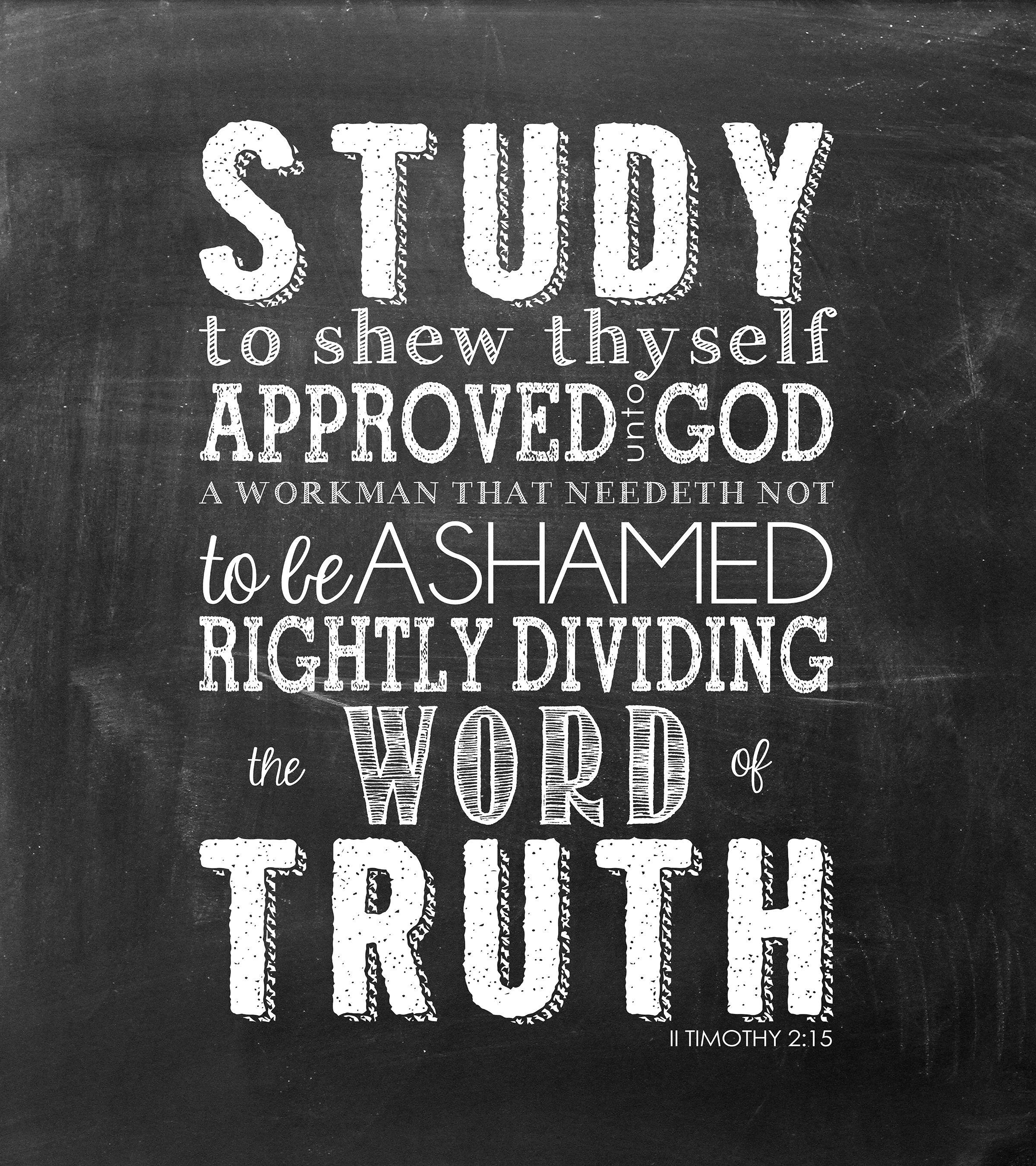 Free Chalkboard Printable Verse Study To Shew Thyself