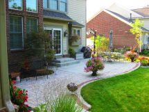 Extend Concrete Patio With Pavers Backyard