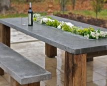 Patio Dining Table With Recess Floral Displays