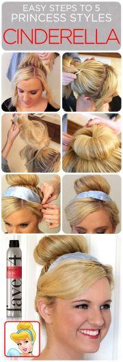 cinderella hair tutorial 5 easy