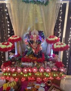 Decoration ideas at home for ganpati with theme also arrangements ganapati  deity pinterest rh