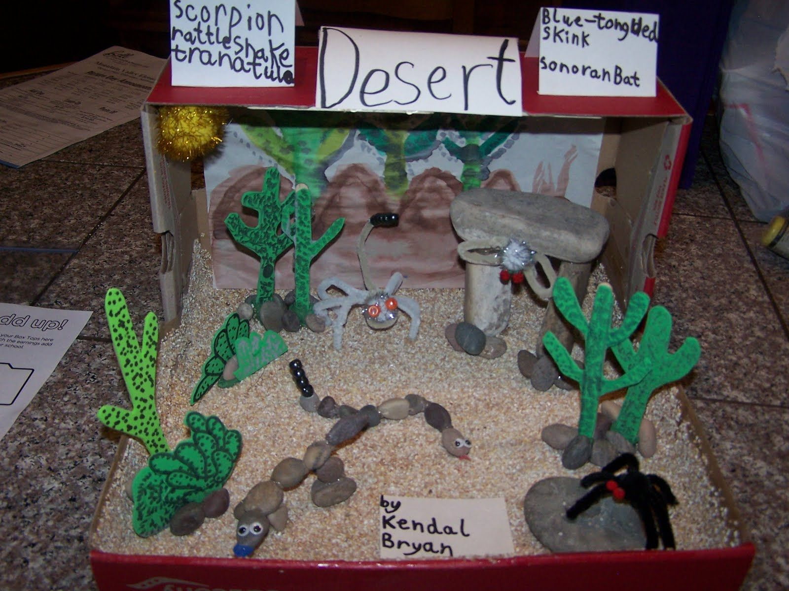 Shoebox Desert Diorama