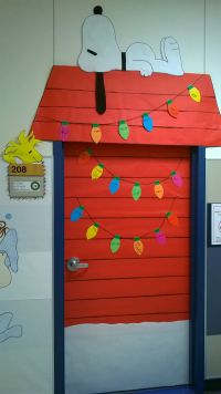 Charlie Brown Christmas classroom door decoration
